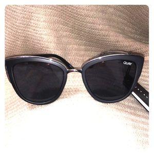 1a4a87749e Quay Australia black and silver rimmed sunglasses